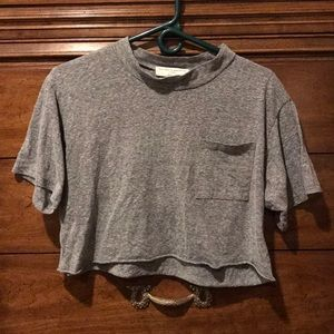 Grey cropped t shirt project social T